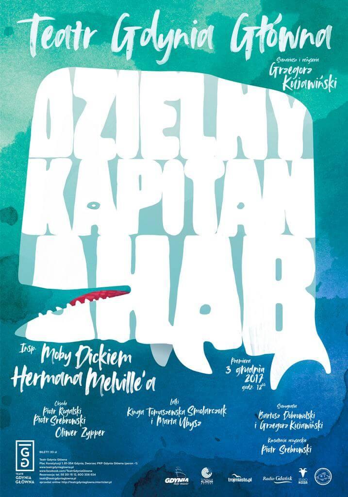 Plakat do spektaklu Dzielny Kapitan Ahab