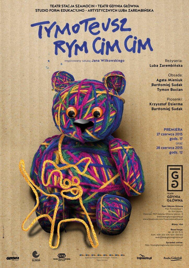 Plakat do spektaklu Tymoteusz Rym Cim Cim